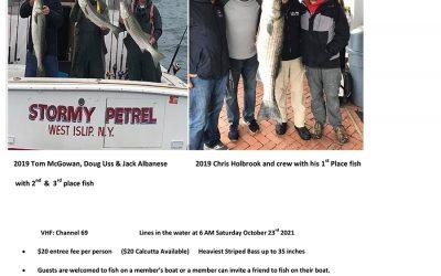 2021 Babylon Yacht Club Striped Bass Contest
